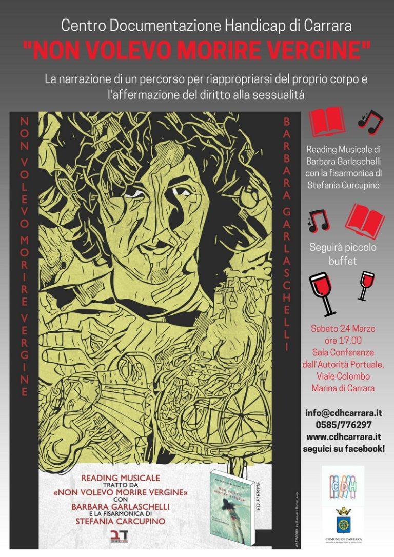 """Reading musicale del libro """"Non volevo morire vergine"""" di e con Barbara Garlaschelli"""