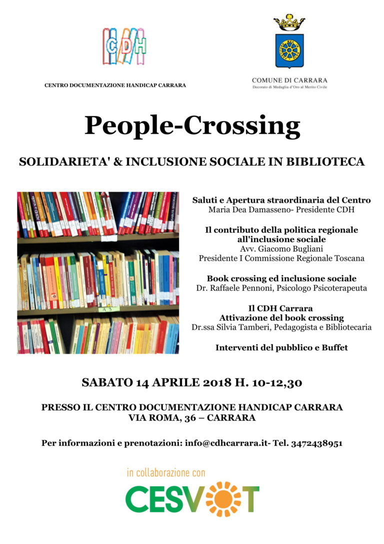 People-Crossing, apre punto di Book Crossing nella biblioteca del CDH